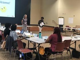 Dr. Susan Jakes and Dr. Michelle Eley host a workshop together.